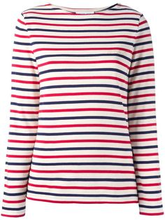 Shop designer knitwear and sweaters for women at Farfetch to build the foundations of your winter wardrobe. Saint Laurent, Ripped Shirts, Blue And White Shirt, Models, Pulls, Shirt Sleeves, Colorful Shirts, Sweatshirts, Sweaters