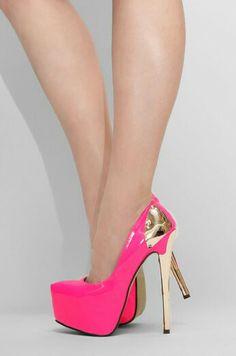 Pink\gold heels