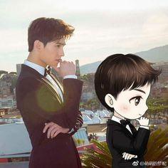 Art Drawings Sketches Simple, Bts Drawings, Yang Yang Actor, Korean Drama Funny, Chines Drama, Kim Bum, Female Character Inspiration, Cute Boys Images, Cute Actors
