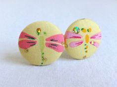 Ponytail Holder Set of 2  Pink and Yellow by KellysKeepsakes, $4.00