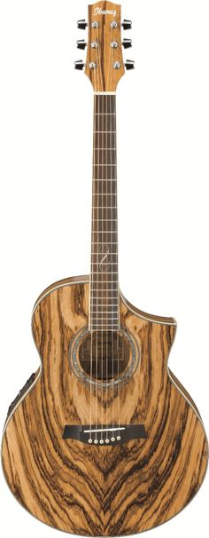 "Ibanez EW20ZWENT Acoustic Guitar: SERIES BASICS•EW Body with Cutaway •Mahogany Neck •B-Band® UST™ Pickup •Ibanez SRTc Preamp with Chorus, Onboard Tuner •Balanced 1/4"" and XLR Outputs •Ibanez Ivorex II™ Nut and Saddle •Ibanez Advantage™ Bridge Pins •D'Addario® EXP™ Strings"