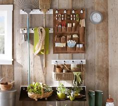 A four-peg or eight-peg Peg Rail made of mango wood comes with mounting hardware and can hold up to 40 pounds; from $24.50 to $35.50 depending on size, it is part of the Gabrielle System for storage at Pottery Barn. (We also are admiring the Suede Organizer, on sale for $79.99.)