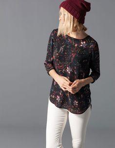 Camisa cuerpo estampada en color hielo  <3 (la negra no)