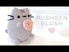 Super cute pusheen plush with dounut .This is a super easy Diy only using a few things