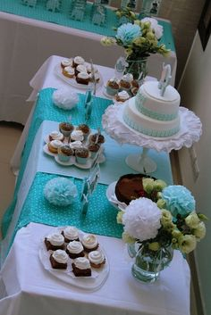 Dessert table at an Elephant Baptism Party! See more party ideas at CatchMyParty.com!