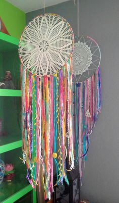 Tropical 12 Inch Sparkling Dreamcatcher with Doily