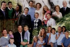 Luxarazzi : Photo Montage of the children and grandchildren of Princess Marie and Prince Hans Adam (upper right); center top-Hereditary Prince Alois and wife Sophie with Joseph-Wenzel, Georg, Nikolaus and Marie-Caroline; upper left-Prince Maximilian and wife Angela with Alfons; lower left-Prince Constantin and wife Marie with Mortiz, Benedikt, and Georgina; lower right-Princess Tatjana and husband Philipp with Lukas, Elisabeth, Marie, Camilla, Anna, Sophie (Maximilian not pictured).