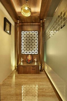 Trendy ideas home office studio feng shui Temple Design For Home, Home Temple, Temple Room, Wooden Temple For Home, Apartment Interior, Room Interior, Apartment Living, Mandir Design, Feng Shui