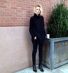 Elin Kling - oversized slouchy black jumper, knitwear, sweater