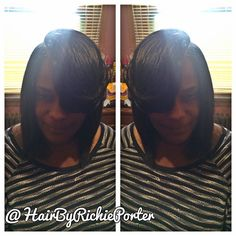 Book now #clientselfie  #Chicago #ChicagoStylist #Atl #atlstylist #Weave #virginhair #Hair #Hairstylist #Stylist #Extensions #IdoHair #Idgt #Quickweave  #SewIn #Full #Bangs #BlackHairMag #Bangin #Bob #Boblife #GetLaidChicago #HairByRichiePorter by hairbyrichieporter