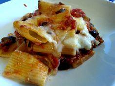 Receta de pasta a la siciliana - pasta a la siciliana con berenjena
