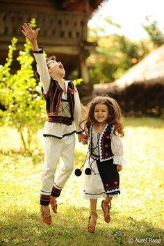 Traditional costumes in Romania Albania, Folk Costume, Costumes, Romania People, Adorable Petite Fille, Art Populaire, Thinking Day, We Are The World, The Beautiful Country