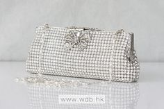 Sophisticated Crystal bow Small Clutch bag $209.99