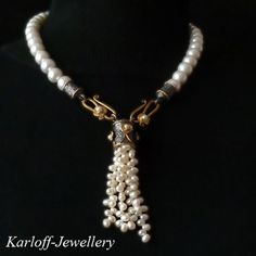 LUX,-,pearly,necklace,silver chamber, silver necklace, pearls, wedding jewellery, bridal jewellery, handmade jewellery, 'KARLOFF-JEWELLERY