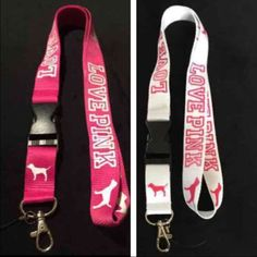 2x VS Pink ID Card Holder Lanyards 2x VS Pink ID Card Holder Lanyards I do bundle discount: 1 for  $8  2 for $14 3 for $18 Accessories Key & Card Holders