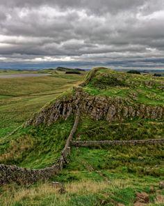 Hadrian's Wall, Northumberland, England by Rifle-Coach