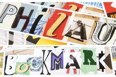 Collage of student letterforms by Steve DeCustasis for Philadelphia University