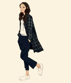 Plaid II » hair flow » art » drawing » inspiration » illustration » artsy » sketch » pinterest » design » expression » faces »
