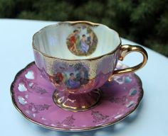 Lefton china porcelain teacup and saucer.  by AnythingDiscovered, $28.00
