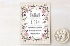Garden Frame Wedding Invitations by Kristie Kern at minted.com