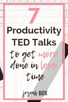 If you're feeling frustrated or overwhelmed because you have a million things to do and there's just not enough time, then you definitely want to watch these productivity TED talks! #productivity #productivitytedtalks #productivitytips #productivtyhacks #productivitymotivation