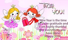 New Year Thank You Wish Cards