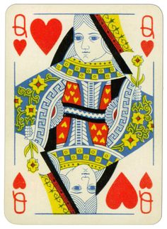 Queen of hearts Praha Poker cards from early XX c