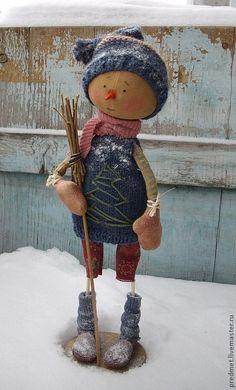 Купить Mandag (понедельник) - Новогодняя неделька - Новый Год, снеговик, Снег, подарок на новый год