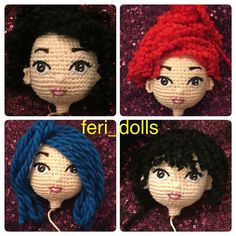 "328 Likes, 27 Comments - feri-dolls (@feri_dolls) on Instagram: ""شو رنگ مو با كاموا"""