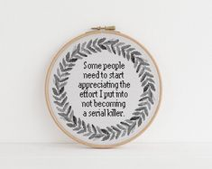Sometimes I find a random screw lying around my house and I just assume it' s Sarcastic Cross counted stitch xstitch pattern Cross Stitching, Cross Stitch Embroidery, Embroidery Patterns, Hand Embroidery, Funny Embroidery, Loom Patterns, Hardanger Embroidery, Crochet Patterns, Cute Cross Stitch
