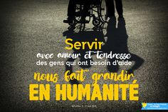 Pape François @Pontifex_fr 30 aout #PapeFrancois #Pontifex Servir avec amour et tendresse des gens qui ont besoin d'aide nous fait grandir en humanité.