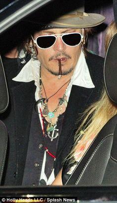 Amber Heard supports Johnny Depp at Hollywood Vampires supergroup gig
