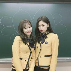 Kpop Girl Groups, Korean Girl Groups, Kpop Girls, School Girl Outfit, Girl Outfits, Teen Images, Korean Best Friends, Kim Doyeon, Just Style