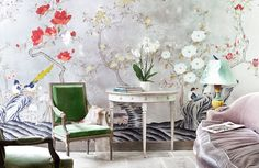de Gournay: Our Collections - Wallpapers  Fabrics Collection - Japanese  Korean Collection |