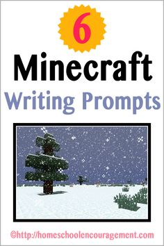 Minecraft Writing Prompts for Learning With Minecraft series.