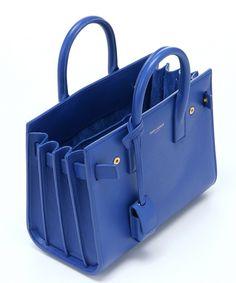 f22d1346e165 The Saint Laurent cobalt leather  Baby Sac De Jour  mini convertible bag at  Bluefly