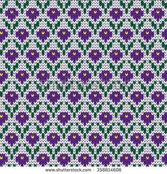 Find Knitted Seamless Pattern Small Crocuses stock images in HD and millions of other royalty-free stock photos, illustrations and vectors in the Shutterstock collection. Knitting Charts, Knitting Stitches, Knitting Socks, Knitting Patterns, Cross Stitch Flowers, Cross Stitch Patterns, Flower Chart, Geometric Drawing, Fair Isle Pattern