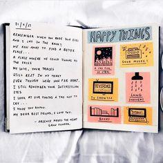 4,655 vind-ik-leuks, 22 reacties - journal art (@perfectapologies) op Instagram: 'What makes you happy? // artist: @lostol0gy'