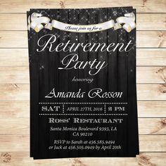 Elegant retirement party invitations  by DIYPartyInvitation