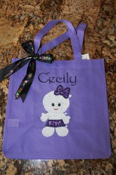 Halloween - Trick or Treat Bag Appliqued & Embroidered
