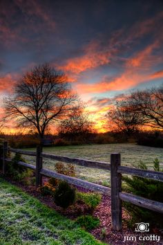 Autumn sunset (Hocking Hills, Ohio) by Jim Crotty