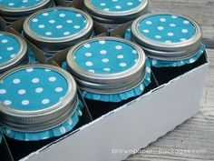 Cupcake liners dress up mason jar lids for gift-giving.