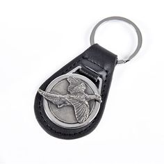This lovely keyring will make the perfect little gift for a countryside enthusiast. The beautiful black leather is durable and strong,. Leather Keyring, Pheasant, Little Gifts, Pewter, Black Leather, Personalized Items, Tin, Tiny Gifts, Common Pheasant