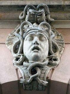 Medusa the gorgon statue