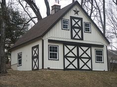 small barns | Small Loft Barn with 12/12 roof pitch, loft and cupola. This barn was ...