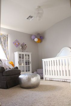 Lilac, Gray, & Yellow Nursery - LOVE!