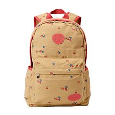 Imiflow Girls School Backpack Canvas Travel Rucksack Book Bags Casual  Daypacks Campus Backpacks 004 Khaki     See this great product. 8b6ef0ec3e