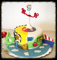 Forky cake, pastel forky toy story LadyBug's Bakery - Toys for years old happy toys Toy Story Birthday Cake, 4th Birthday Cakes, 4th Birthday Parties, Birthday Party Decorations, Boy Birthday, Birthday Ideas, Cumple Toy Story, Festa Toy Story, Toy Story Party