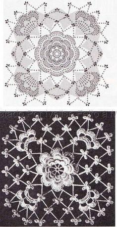 Ivelise Hand Made: In Square Crochet Irish!