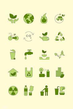 Environment icon design elements vector set   free image by rawpixel.com / Juani Coronel Hilazo Environment Logo, Environment Quotes, Environment Concept, Logo Design Inspiration, Icon Design, Recycle Symbol, App Logo, Free Illustrations, Sustainable Design